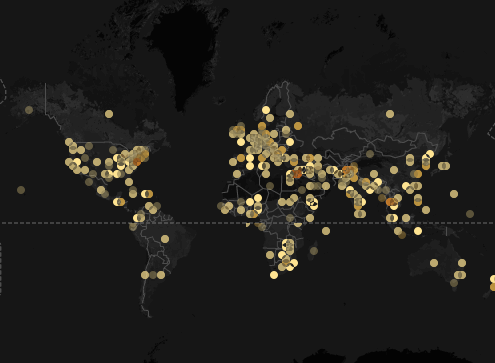 "Flashing Lights: a screenshot of impending doom or liberation? (""Foreign Policy""/John Beieler/Google Maps/CartoDB)"